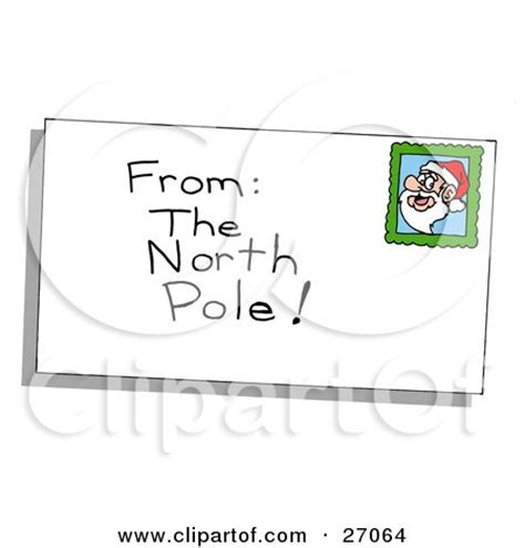 printable envelope from north pole digital collage of a stick people businessman with company