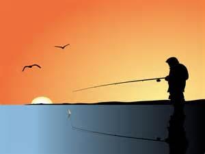 fishing man powerpoint slide ppt backgrounds black