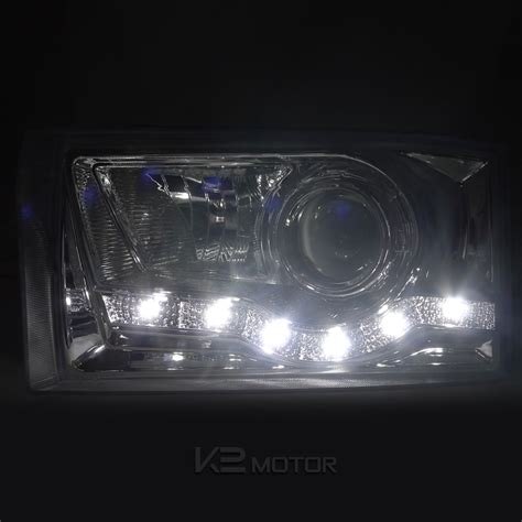 Combo 1999 2004 Ford F250 Led Chrome Projector Headlights Led Projector Lights