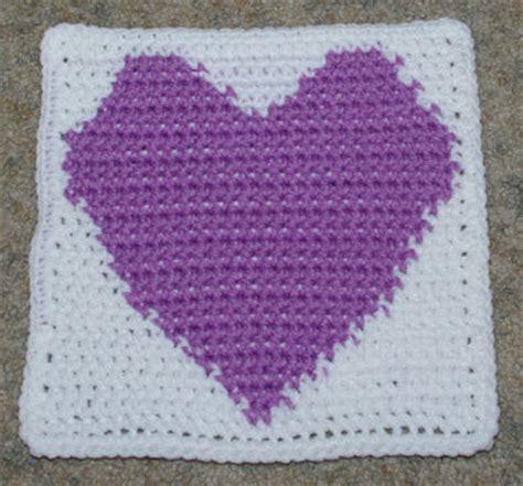 heart pattern afghan crochet popcorn heart square only new crochet patterns