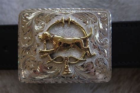 pattern black belt of knowledge buckle belt silver polished bronze foxhound quot foxhound