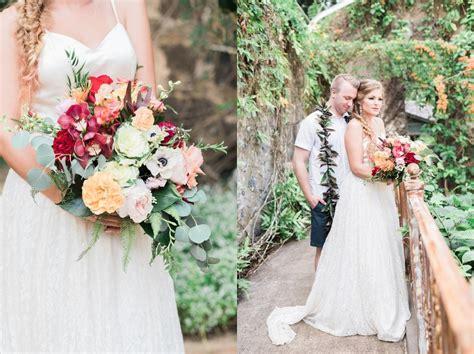 romantic haiku mill wedding in maui hawaii wedding