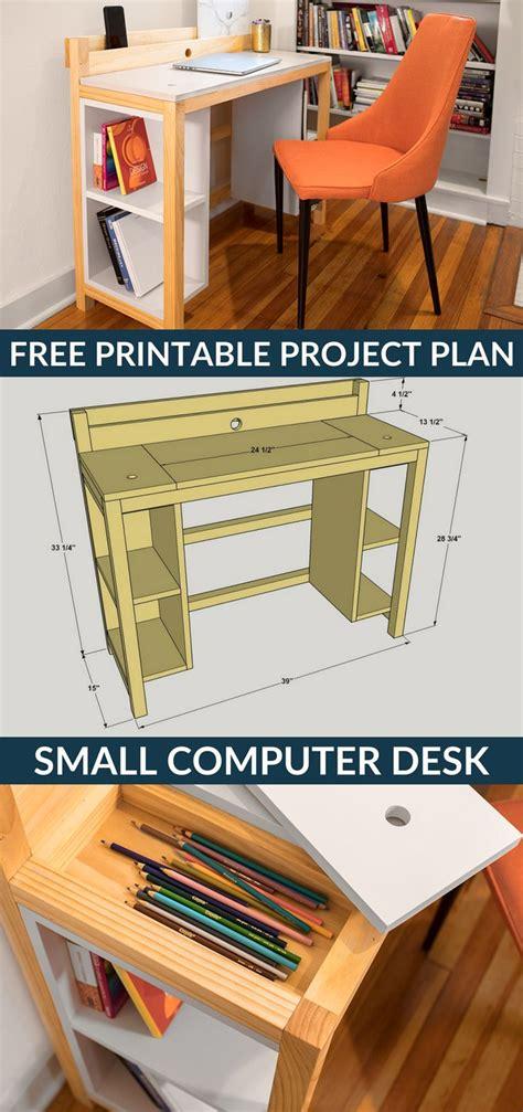 small desk plans free 25 best ideas about computer desks on diy