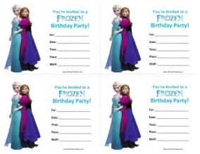 frozen birthday invitation printable frozen birthday invitations free printable