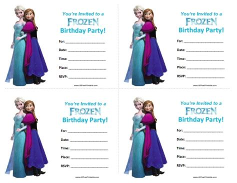 printable free frozen invitations frozen birthday invitations free printable