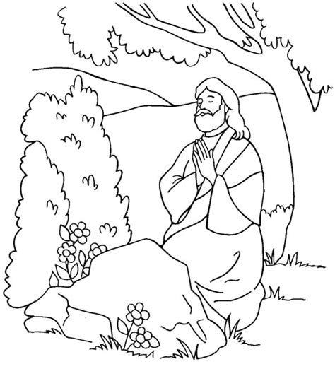 coloring pages jesus praying coloring picture of jesus praying in the garden jesus in