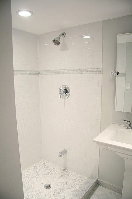 inexpensive bathroom tile inexpensive subway tile with more expensive carrara on the
