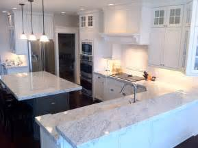 Marble Floors Kitchen Design Ideas The Granite Gurus Carrara Marble Kitchen From Mgs By Design