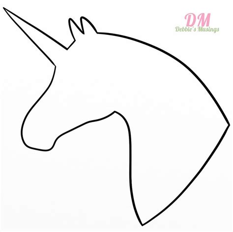 unicorn template unicorn on horn template coloring pages
