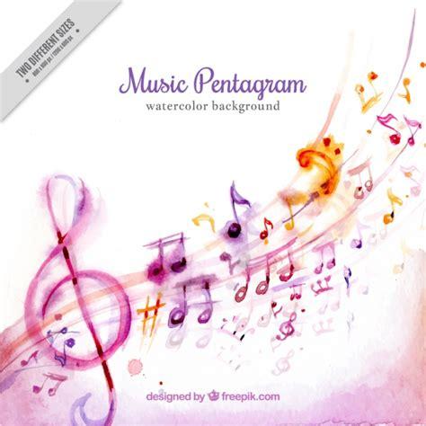 Imagenes Bonitas Musicales | fondo de acuarela de bonitas notas musicales descargar