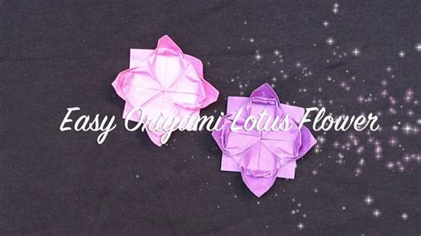 Simple Origami Flower For Beginners - easy origami flower for beginners origami lotus flower
