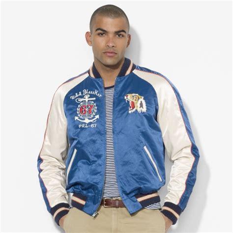 Jaket Basball Merah Putih Polos 1 polo ralph souvenir baseball jacket in blue for lyst