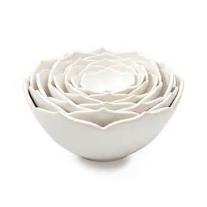 Nesting Lotus Bowls Nesting Lotus Bowls Smith Ceramic Flower
