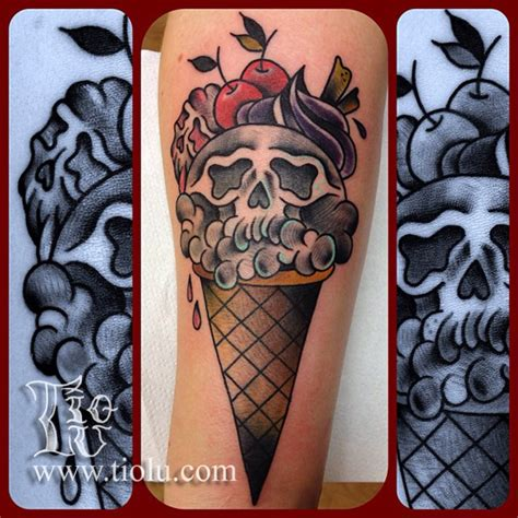 new school ice cream tattoo voodoo ink st kilda vodoo ink tattoo parlour