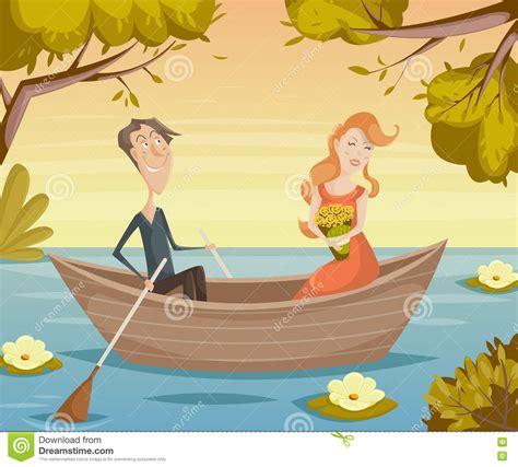 love boat cartoon cartoon characters of girl and boy vector cartoon vector