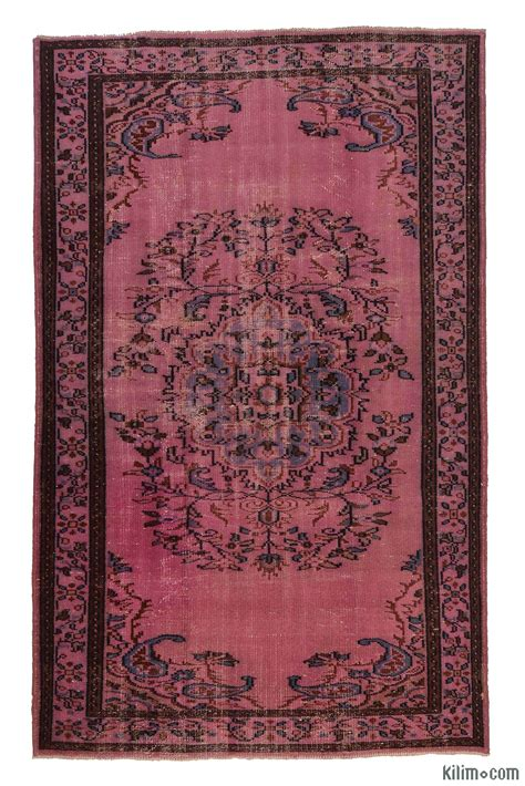 overdyed turkish rugs k0005571 pink dyed turkish vintage rug