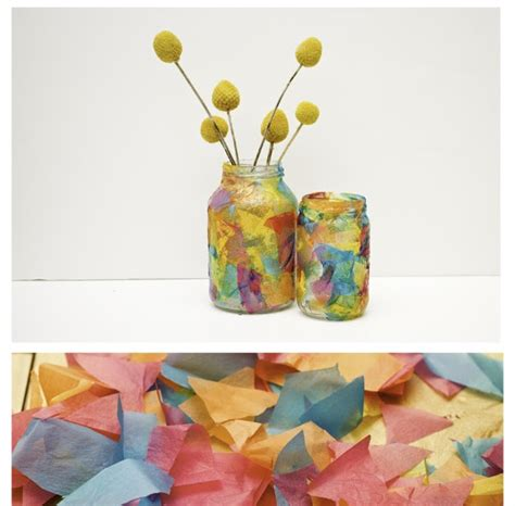Things With Tissue Paper - no monsters in my bed things to make tissue paper vases