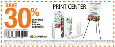 Office Max Copy Center by Officemax 30 Print Center Printable Coupon