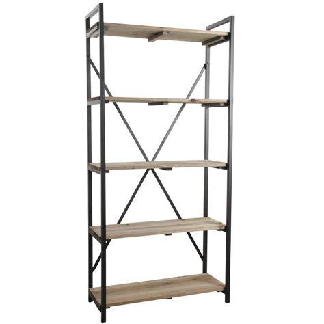 etagere noir et bois etag 232 re en m 233 tal noir et bois net2380 aubry gaspard