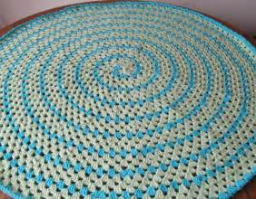 Crochet Star Rug Pattern Spiral Round Granny By Smoothfox Crocheting Pattern