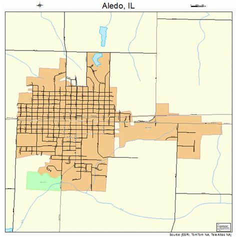aledo map aledo illinois map 1700646
