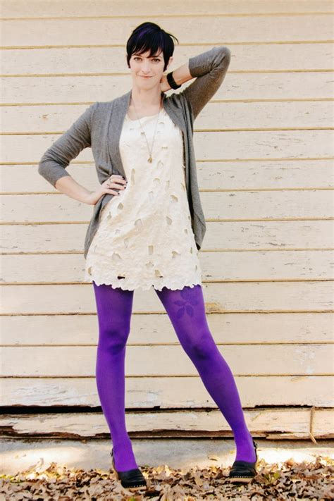 Can I Use My H M Gift Card Online - winter white purple tights trophy boutique