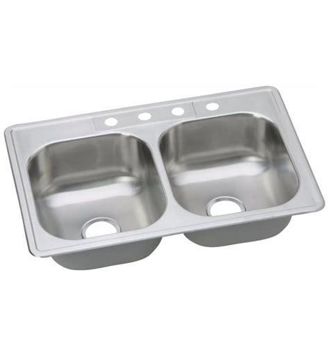 dayton equal bowl kitchen sink elkay dsew4023322 dayton 22 quot equal bowl drop in
