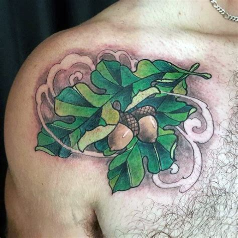 oak leaf tattoo 60 leaf designs for the delicate stages of