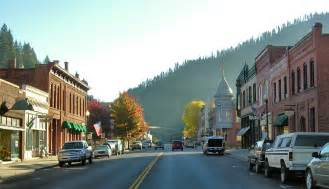 small towns in america with small populations wallace id downtown wallace early in the day photo