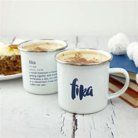 hygge inspired fika mug by auntie mims   notonthehighstreet.com
