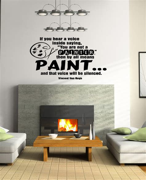 Wall Mural Quotes wall vinyl sticker decals art mural quote about paint