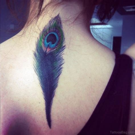 feather tattoo on neck 14 lovely peacock neck tattoos