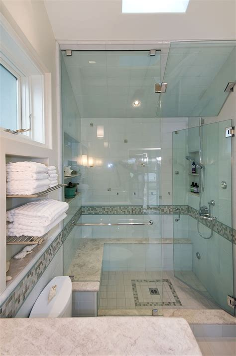 Steam Shower Bathroom Designs Steam Shower Design Bathroom Contemporary With Award Winning Contractor Bathroom Skylight