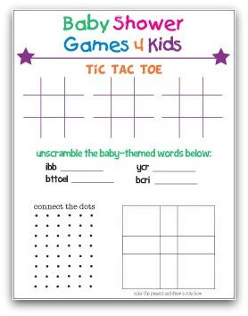 baby shower games templates free