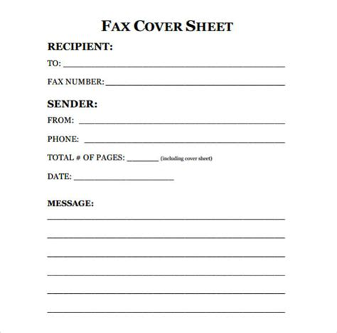 print fax cover sheet printable fax cover sheet 1605253 printable