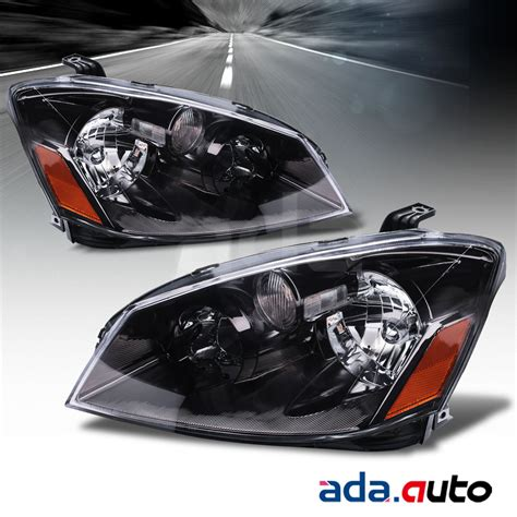 headlights for nissan altima for 2005 2006 nissan altima sedan s se sl models black