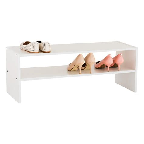 Shoe Shelf by 2 Shelf Shoe Stacker The Container Store