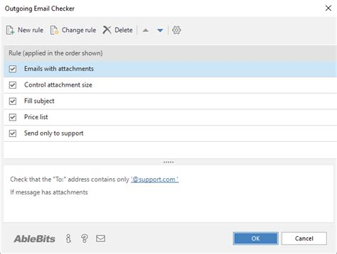email checker check outlook emails before sending them outgoing email