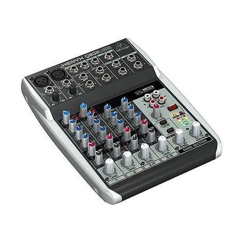 behringer behringer q802 usb xenyx premium 8 input 2 mixer tracktion 4 audio production
