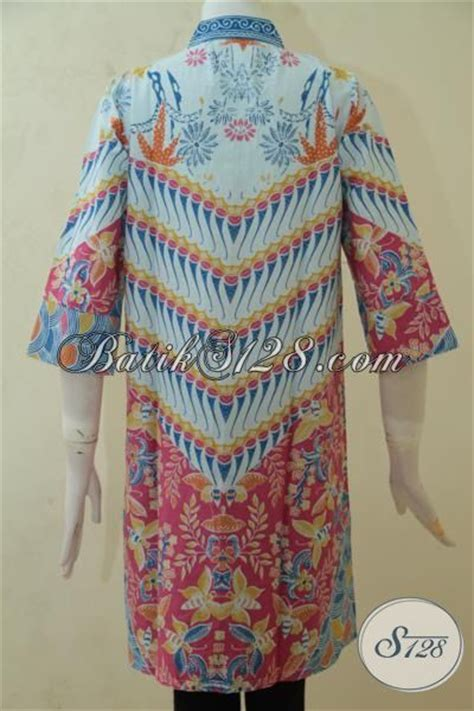 desain baju batik yang menarik baju batik perempuan terbaru blus batik printing desain