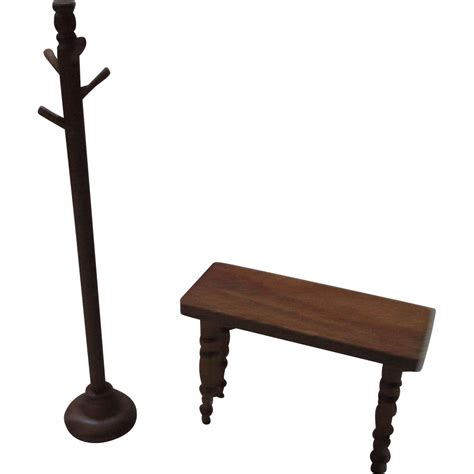 What Is Rack Ruby Vintage Miniature Wooden Bench And Coat Rack For Your Doll