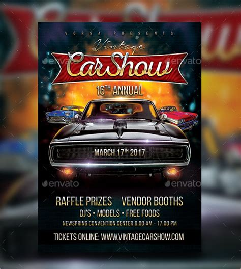 car show flyer template 24 car show flyer templates free psd ai eps format