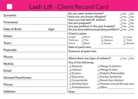 client cards – beauty stationery