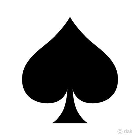 Spade Card Template by Free Spade Card Symbol Image Free