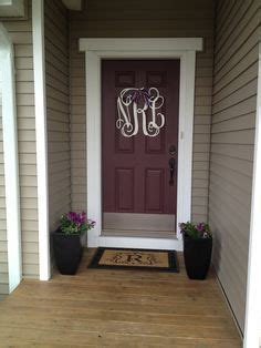 maroon front door  tan house google search painted