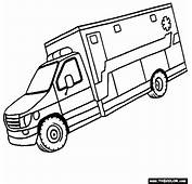 Ambulance Coloring Page  Home