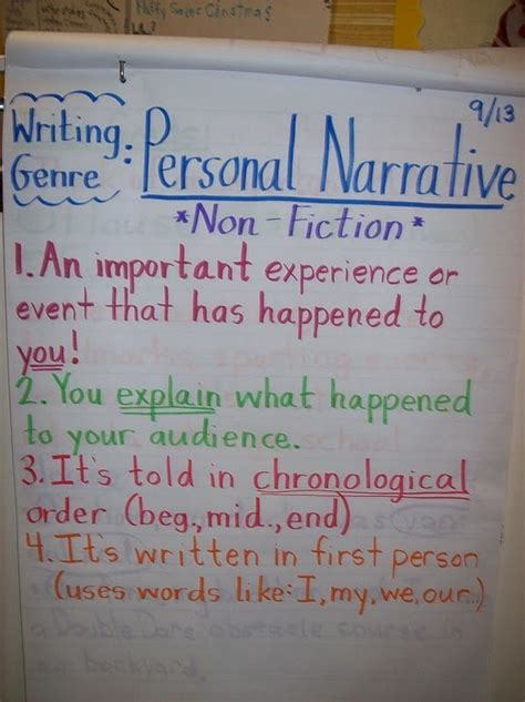 Personal Narrative Essay Exles For 5th Grade by Personal Narrative