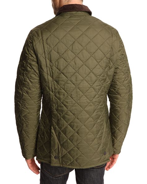 Olive Quilted Jacket by Barbour Heritage Liddesdale Olive Quilted Jacket In Green