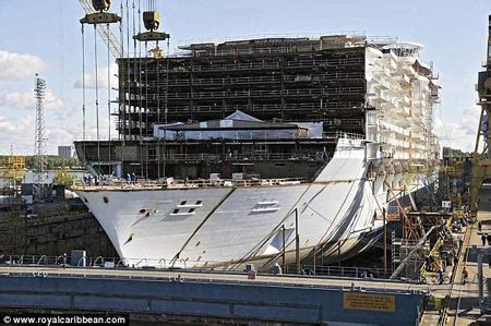 world s largest cruise ship being built geekologie