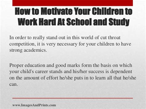 how to motivate your children to work at school and study
